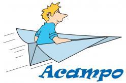 Logo acampo bleu